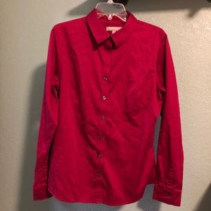 Banana republic fitted shirt, crimson color